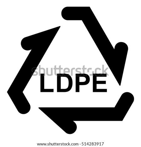Plastic Recycle Symbol Ldpe Plastic Recycling Stock Photo Photo