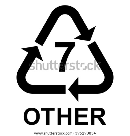 Plastic recycling symbol other 7 plastic stock vector 395290834 shutterstock - Www nice pic other ...