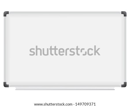 plastic school board for writing marker vector illustration isolated on white background