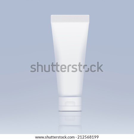 plastic tube for cosmetics - stock vector