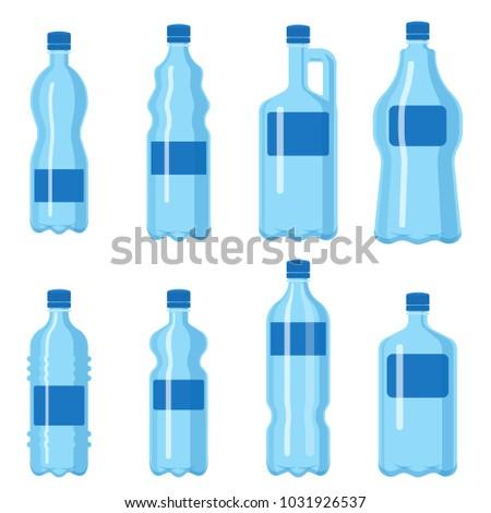plastic water bottle vector blank nature stock vector 1031926537