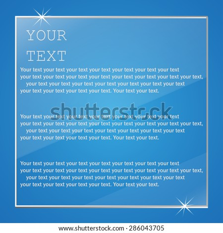 Plate Glass with text vector illustration - stock vector