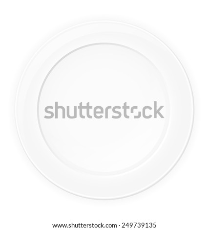 plate vector illustration isolated on white background