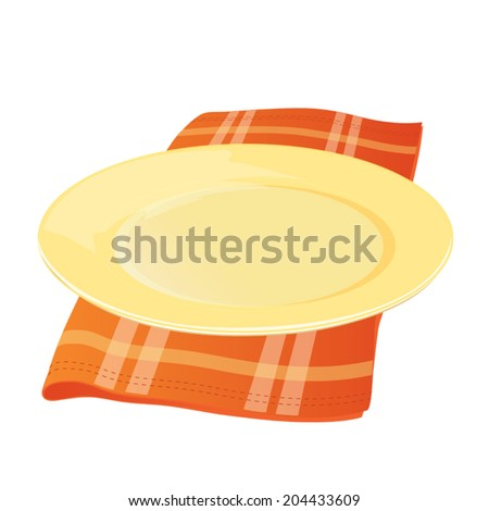Plate with Cloth Napkin