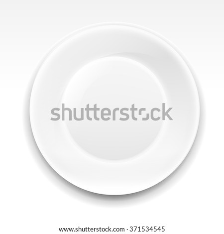 Plate With Gradient Mesh, Vector Illustration - stock vector
