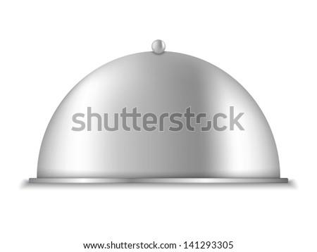 Platter on white background, vector eps10 illustration, gradient mesh used - stock vector