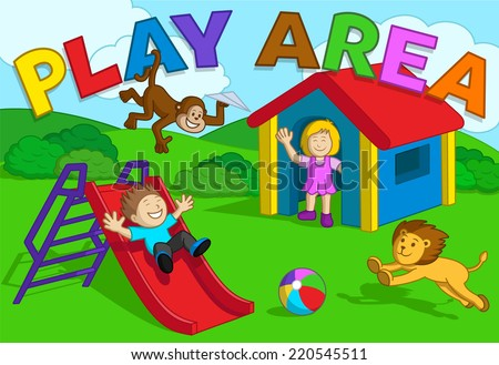 Girl Playing Clipart Play Area Cute Girl Boy