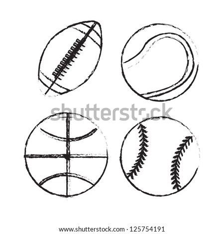 Play ball over white background vector illustration - stock vector