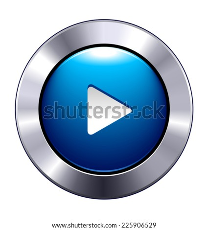 Play Button App Icon - Movie play button app symbol for websites and phones - stock vector