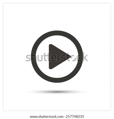 Play button icon - stock vector