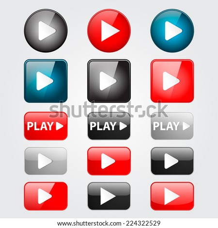 play buttons set