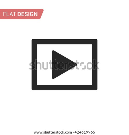 Play icon. Silhouette play icon. Play icon isolated on background - stock vector