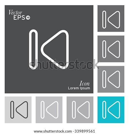 Play icon -vector, illustration. - stock vector