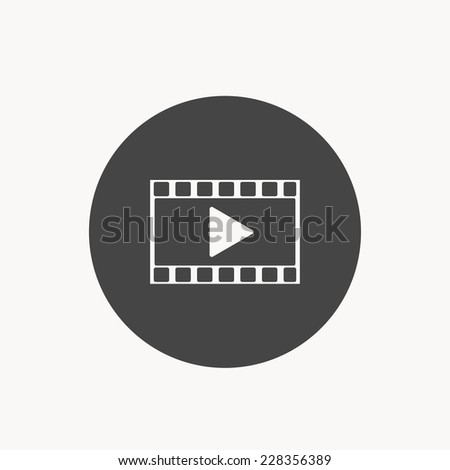 play in  film icon - stock vector
