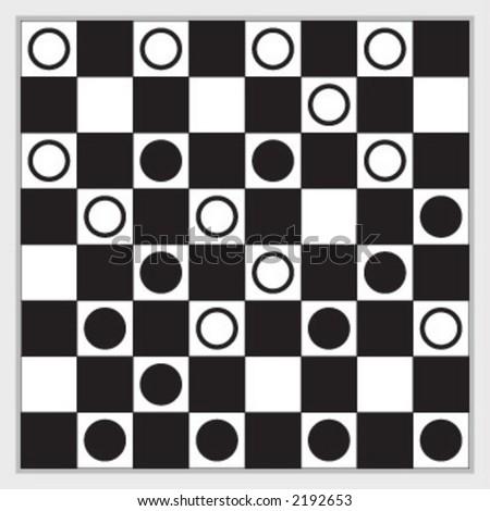 play, king, checkers - stock vector