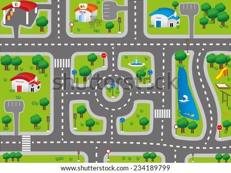 play mat car carpet for kids