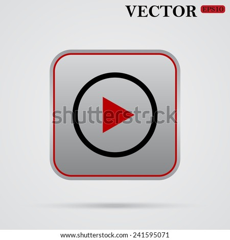 play ,  vector, EPS 10 - stock vector