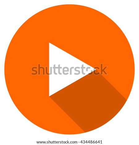 play vector icon, circle flat design internet button, web and mobile app illustration - stock vector