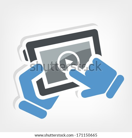 Player device - stock vector