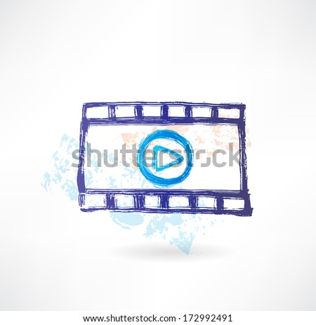 Player grunge icon - stock vector