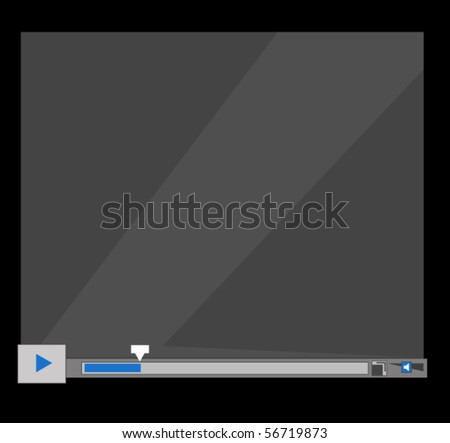 player illustration - stock vector