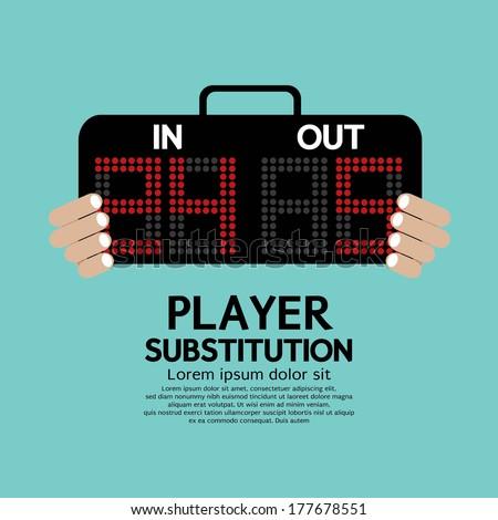 Player Substitution Sport Vector Illustration - stock vector