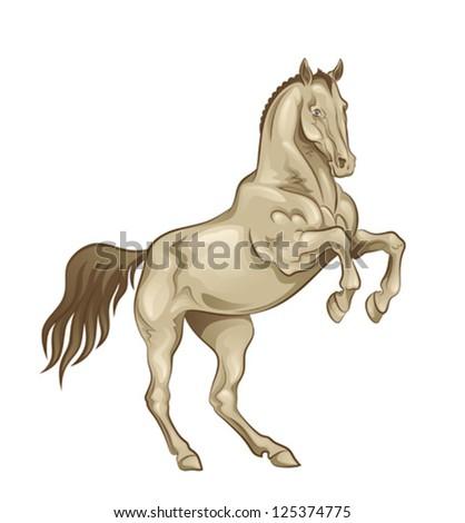 Playful horse - stock vector