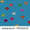 Playful wave circle pattern - add your own colors or make all one color - stock