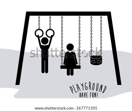 Playground design over white background, vector illustration - stock vector