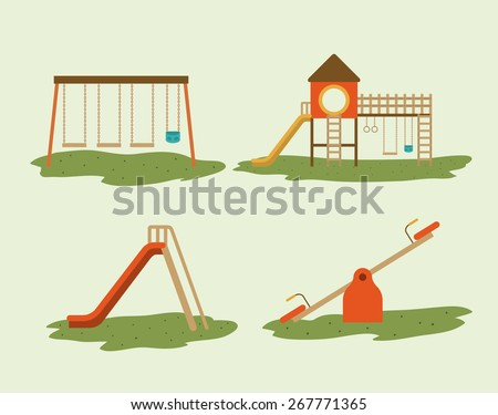 Playground design over white background, vector illustration - stock vector