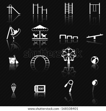 Playground icons  - stock vector