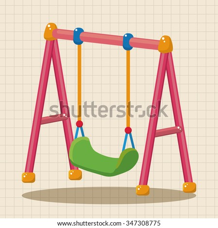 playground swing theme elements - stock vector