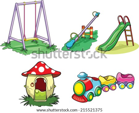 Playground toys - stock vector