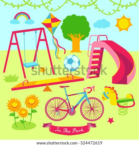 Playground Vector Design Illustration - stock vector