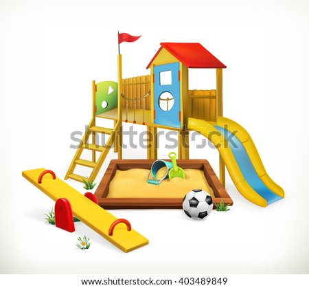 Playground, vector illustration - stock vector