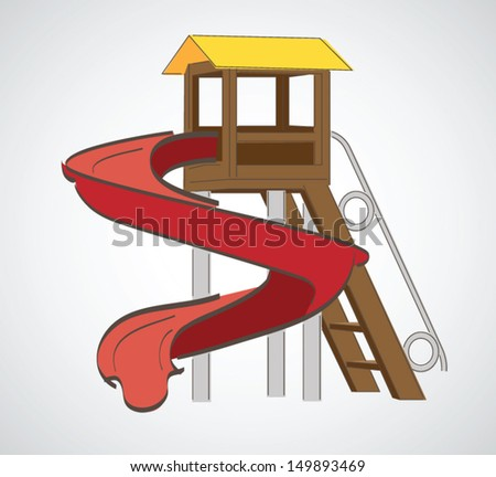 Playground without children. Vector illustration  - stock vector