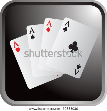 playing card aces on web button