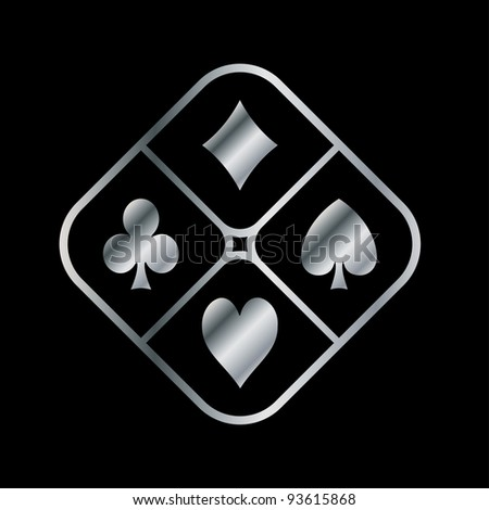 playing card design - stock vector