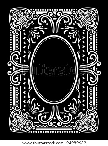 Playing Card Design Rectangle - stock vector