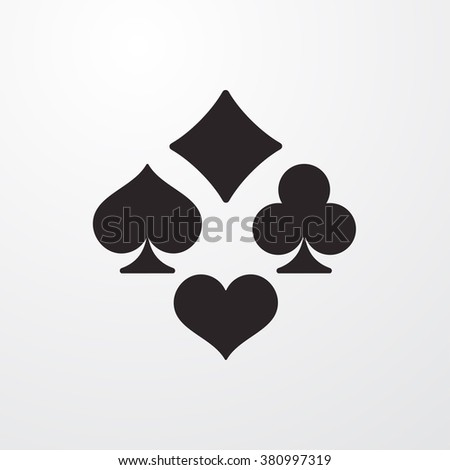 Playing card icon - stock vector