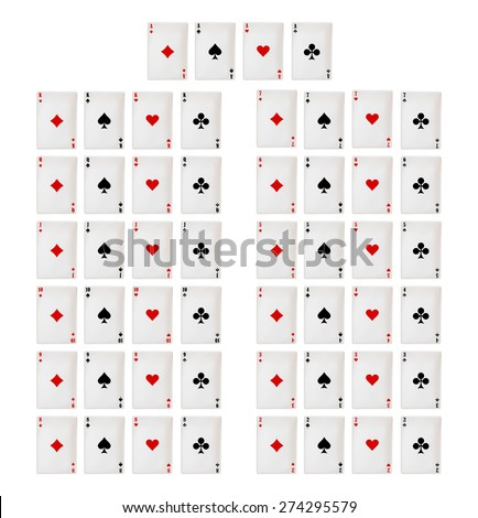 playing card. poker and casino - stock vector