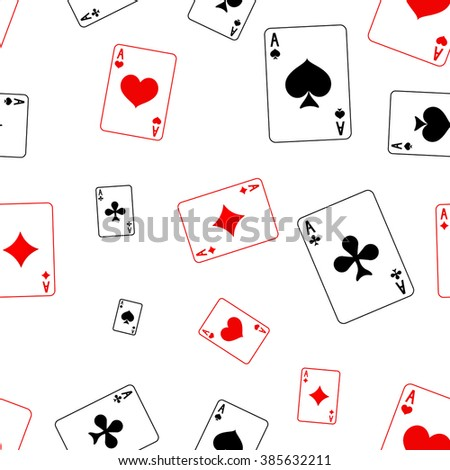 Playing card Seamless pattern. Vector