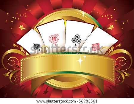 playing-cards - stock vector