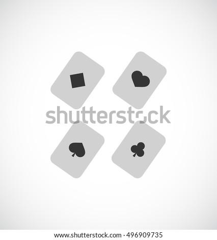 playing cards black icon