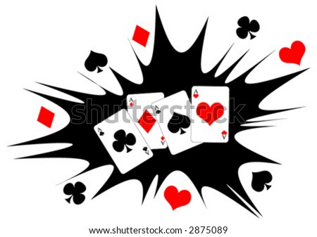 western aces cards poker hands