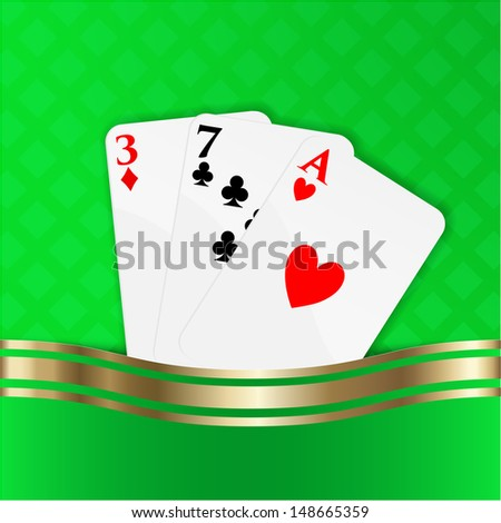 Playing cards vector background