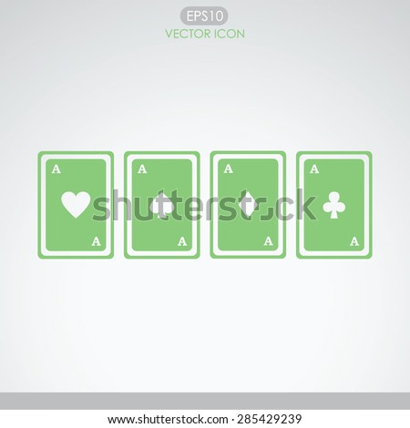 Playing cards vector icon. - stock vector