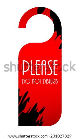 please do not disturb door hanger - stock vector