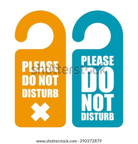 Please do not disturb hotel design  - stock vector