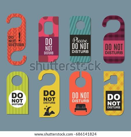 Please do not disturb hotel door quiet motel service room privacy concept vector card hang message  sc 1 st  Shutterstock & Please Do Not Disturb Hotel Door Stock Photo (Photo Vector ...